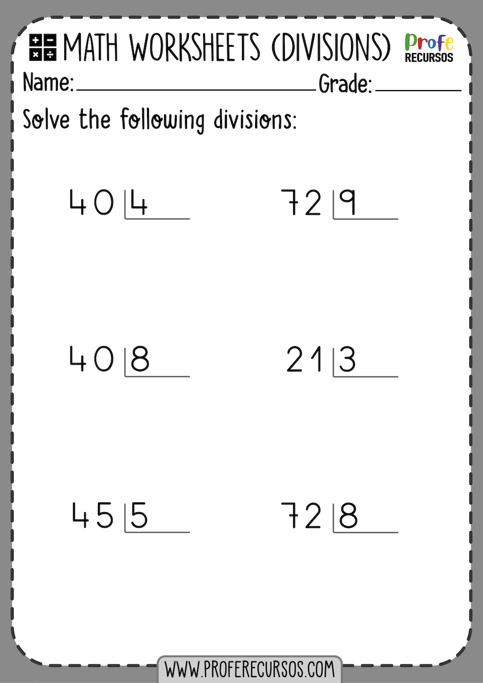 2 Digit Division Worksheets