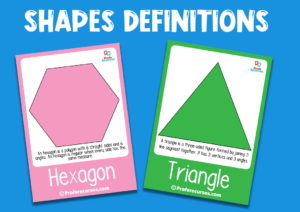 2d shapes flashcards for children