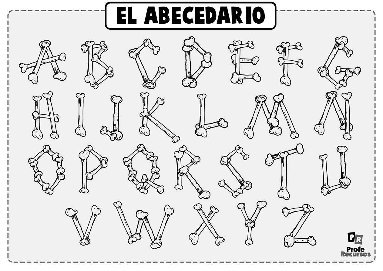 Abecedario para colorear letras raras