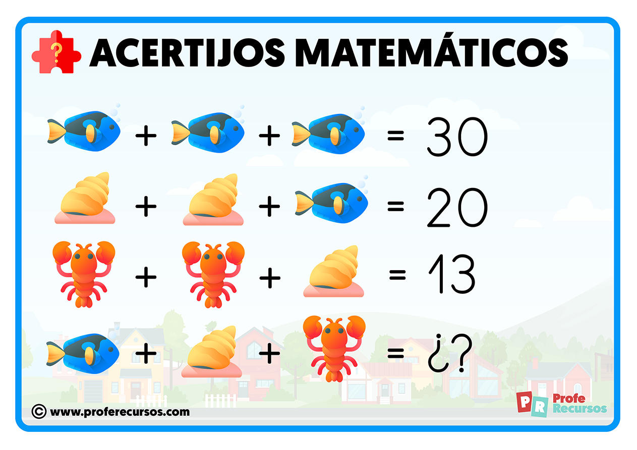 Acertijos matematicos para primaria