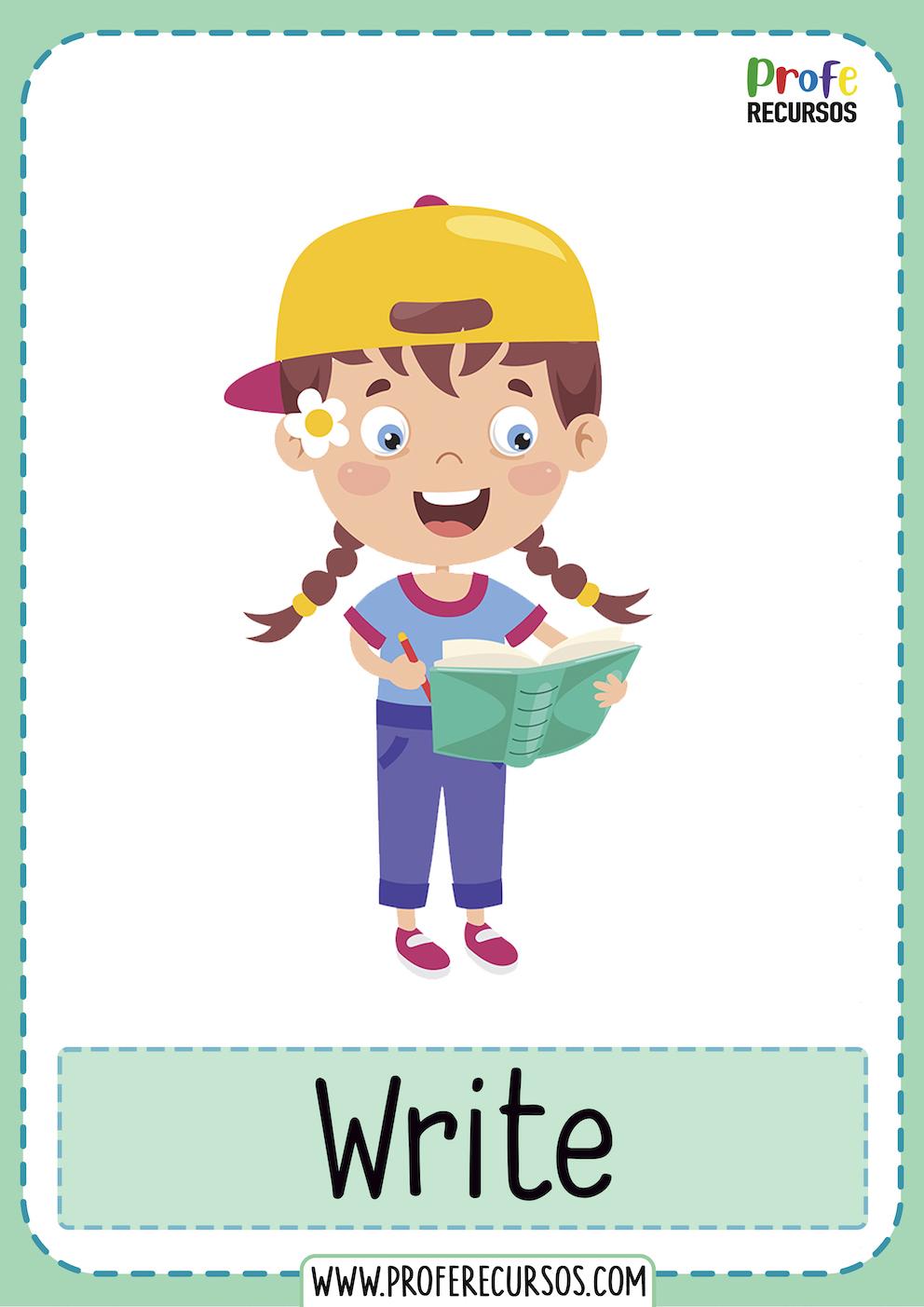 Action verbs esl for kids