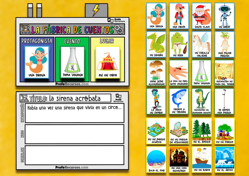 Actividad escritura creativa para niños