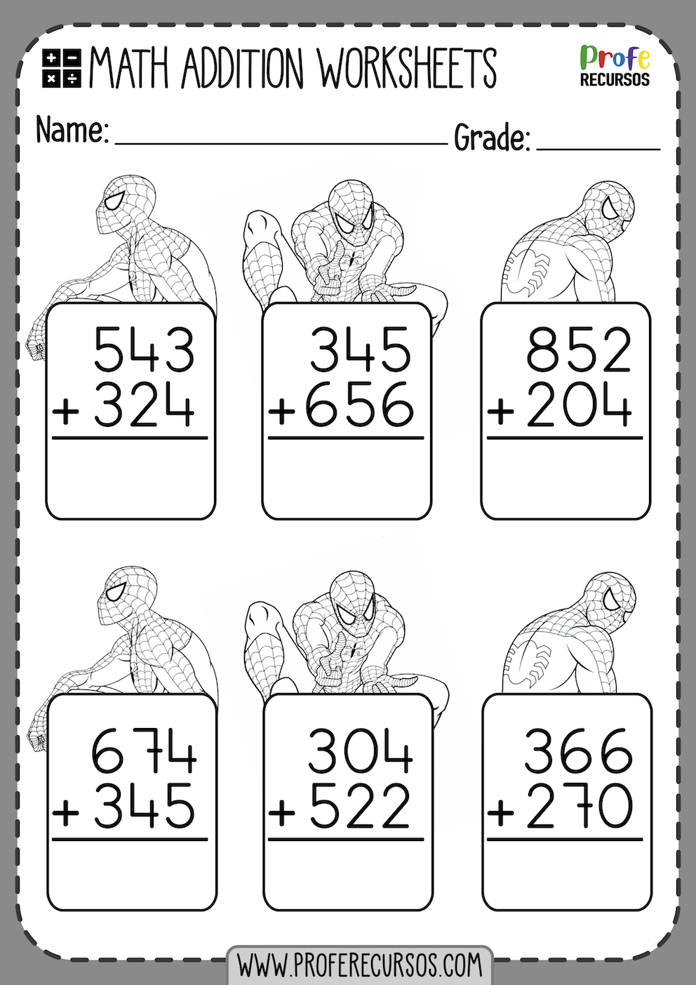 Add and Color Addition Worksheets