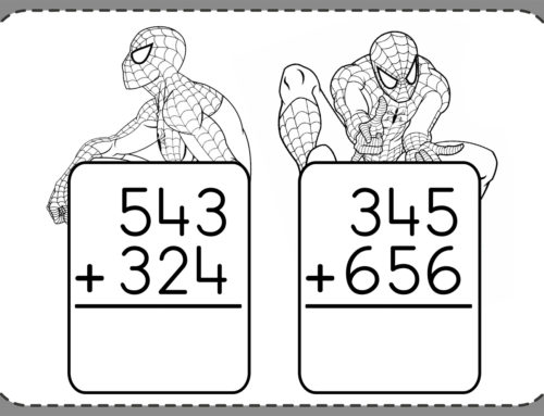 Spiderman (3Digit + 3Digit ) Addition Worksheets