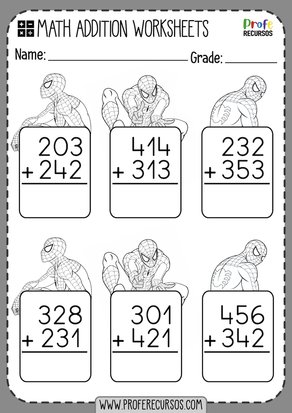 Addition Worksheets to Print
