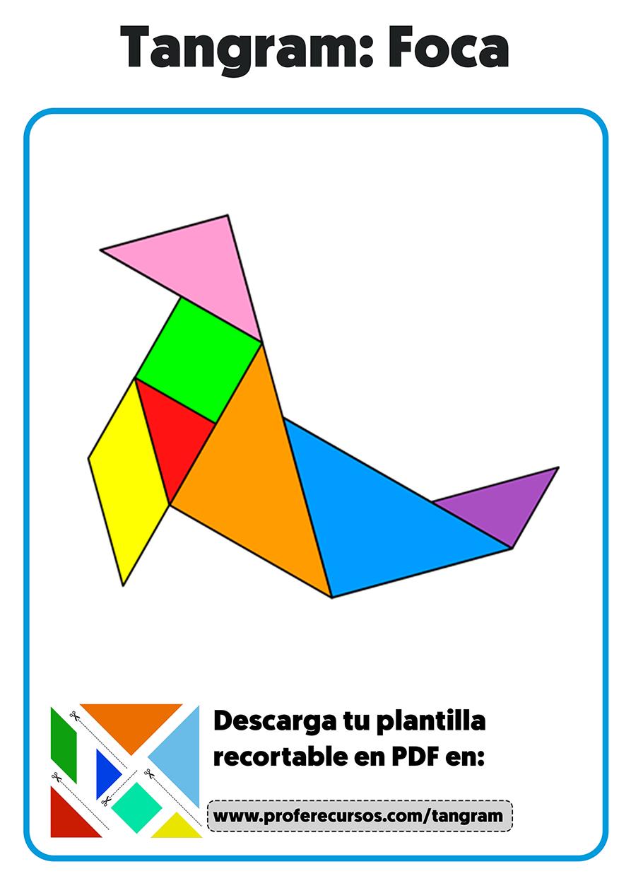 Animales hechos en tangram