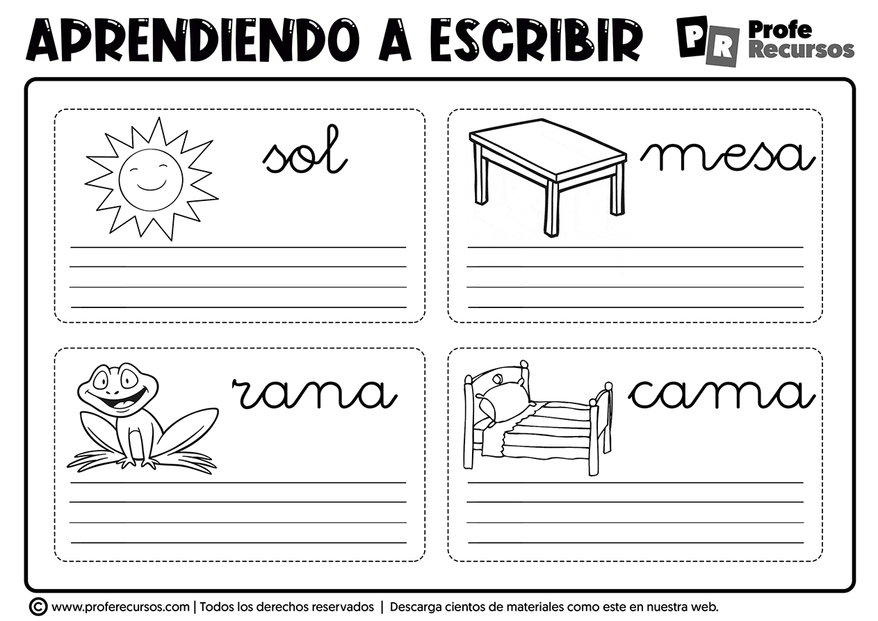 Aprender a escribir para niños