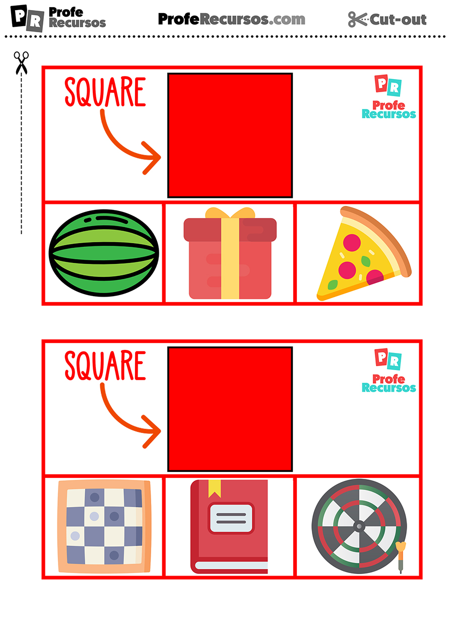 Aprender formas en ingles para niños
