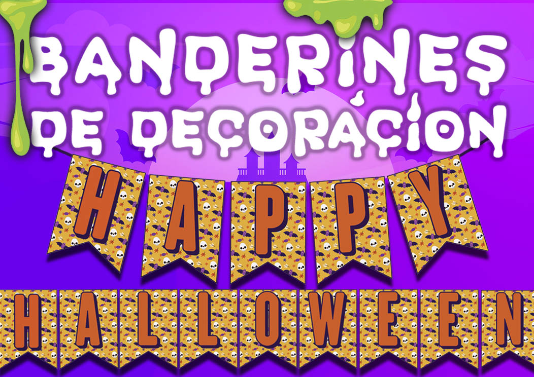 Banderines de halloween pennants