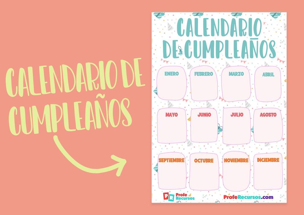 Calendario de cumpleaños gratis
