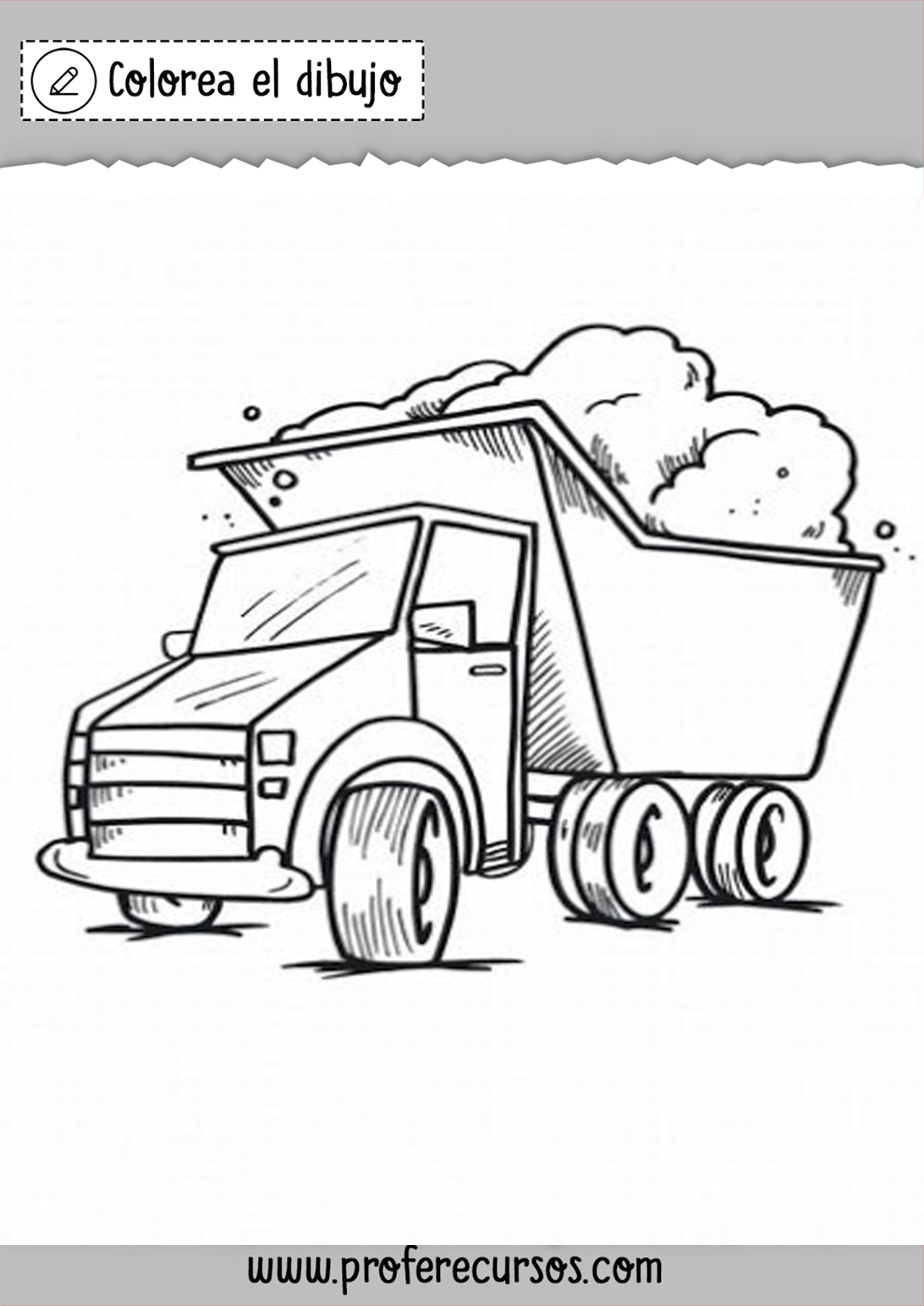 Camiones para Colorear
