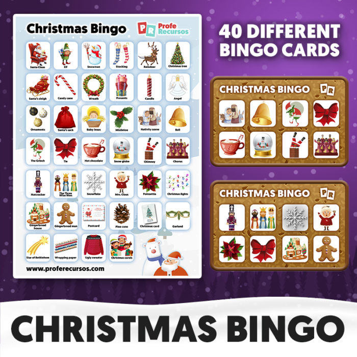 Christmas bingo for kids