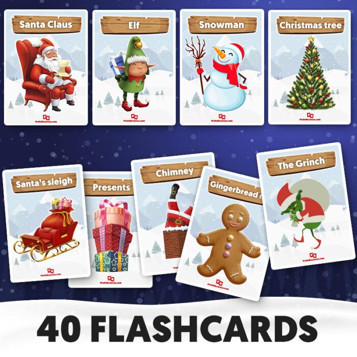 Christmas flashcards for kids
