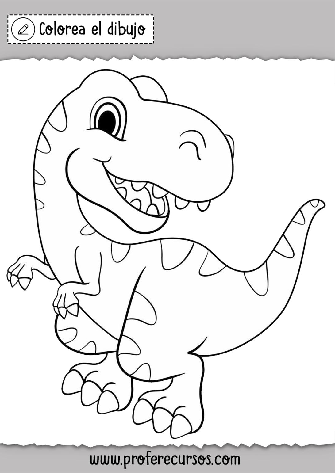 Colorear Dibujos de Dinosaurios