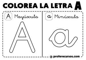 Colorear letra a