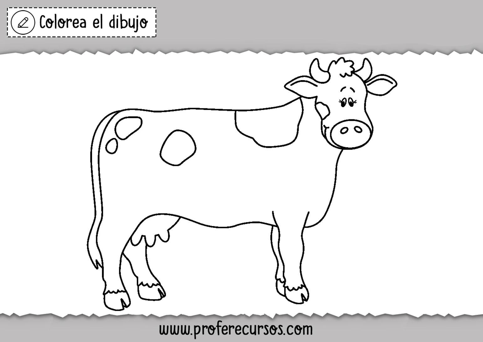 Colorear dibujo de vaca