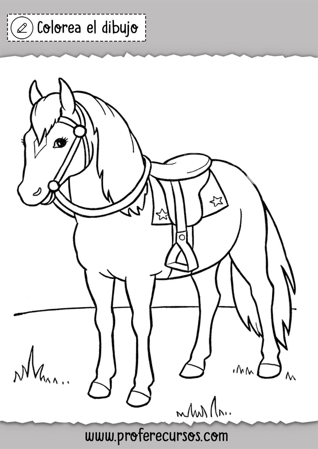 Colorear dibujos de caballos