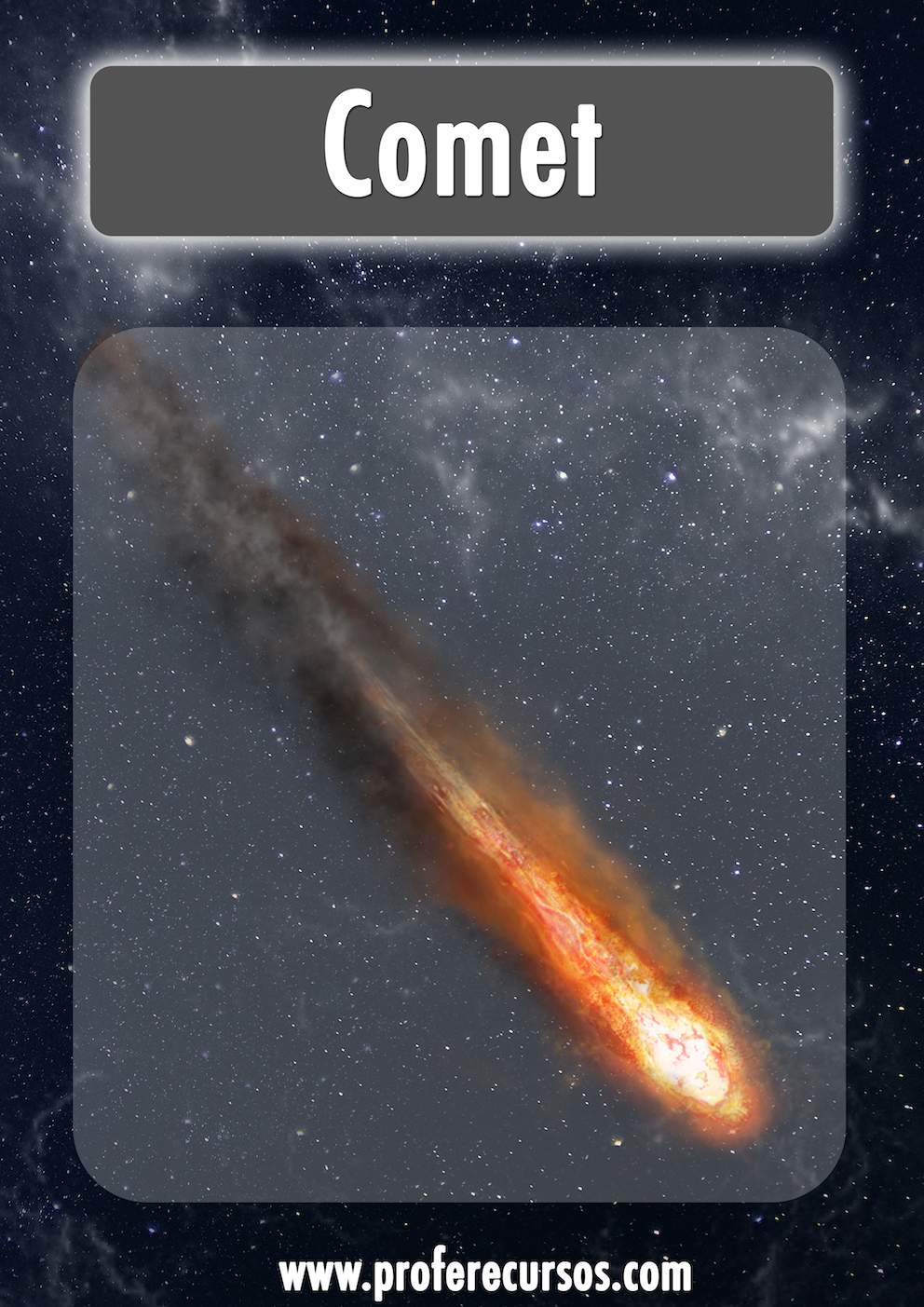 Comet Space Vocabulary Flashcards