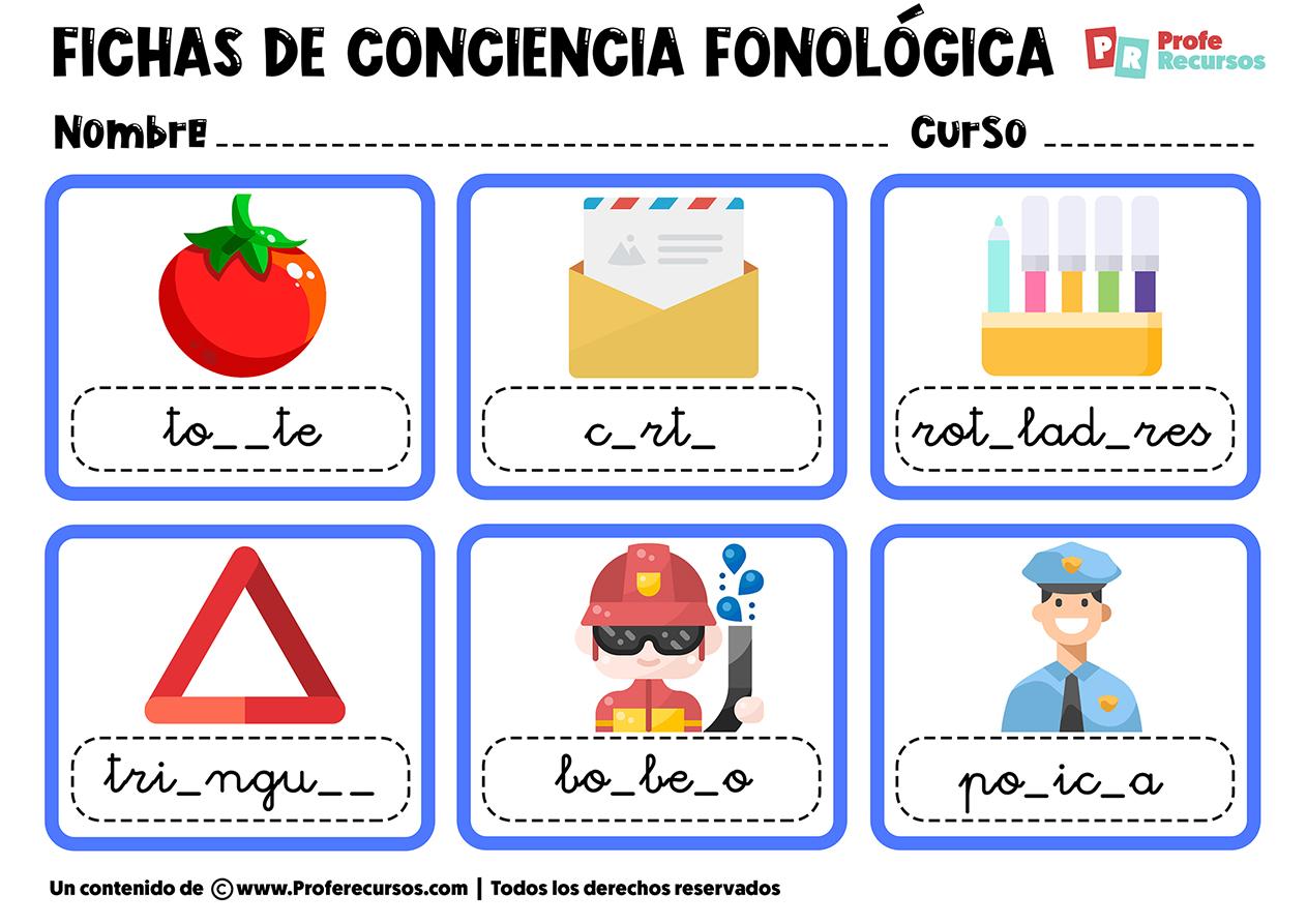 Conciencia fonologica silabas y palabras
