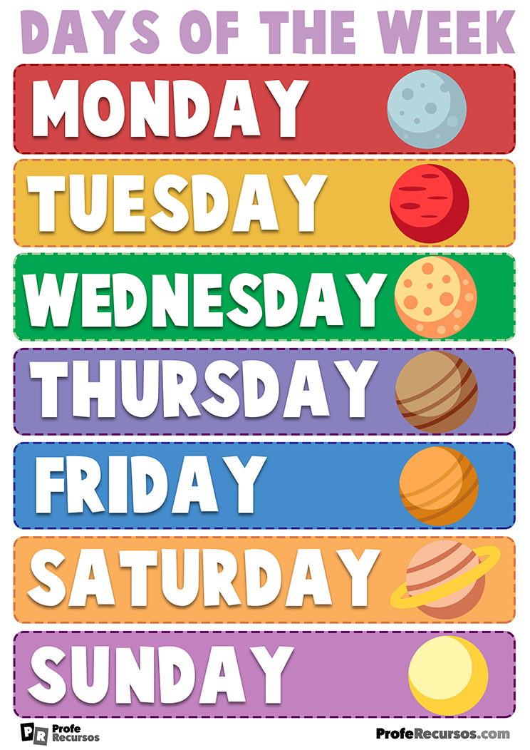 Days of the week for kids