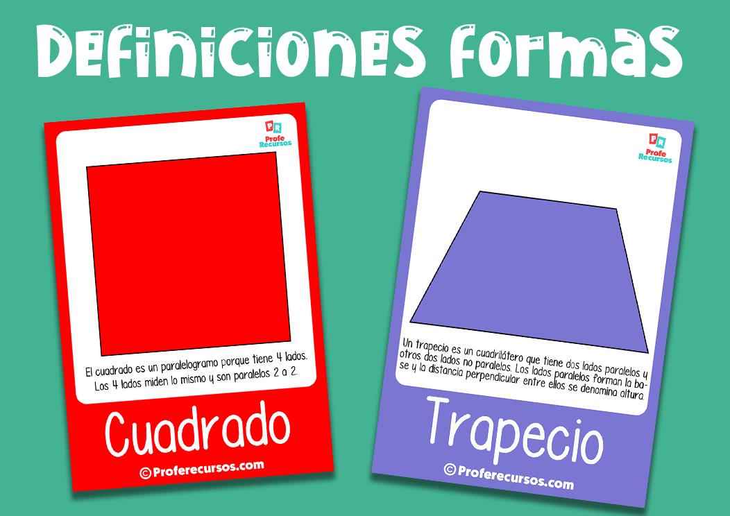 Definiciones formas geometricas para niños