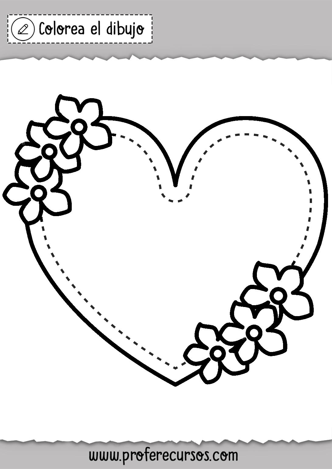 Dibujo Corazon para Colorear