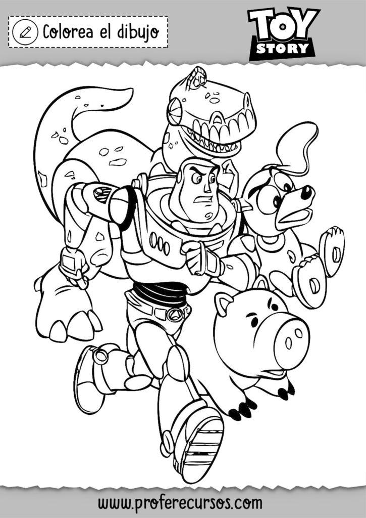 Dibujo Toy Story para colorear y pintar