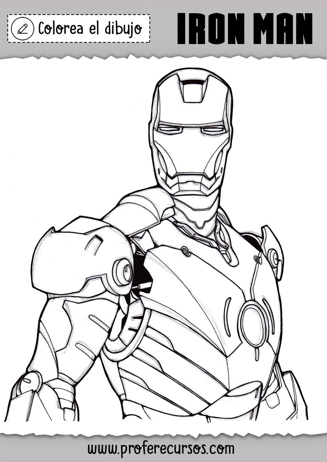 Dibujo de Iron Man Colorear Gratis