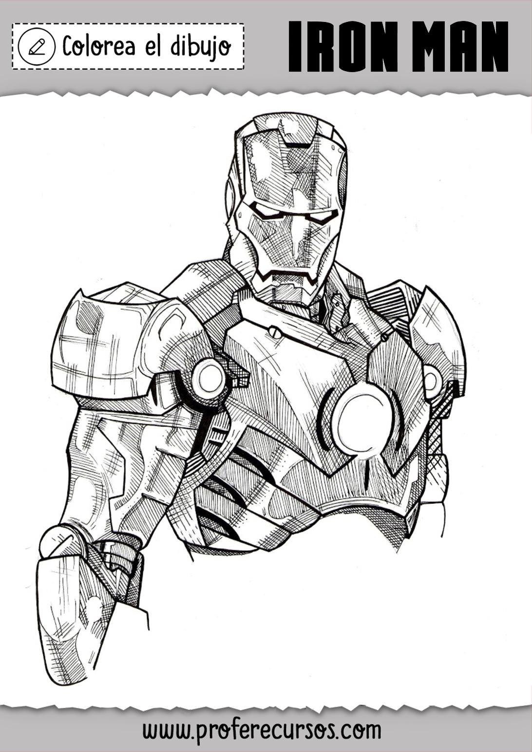 Dibujo de Iron Man Colorear