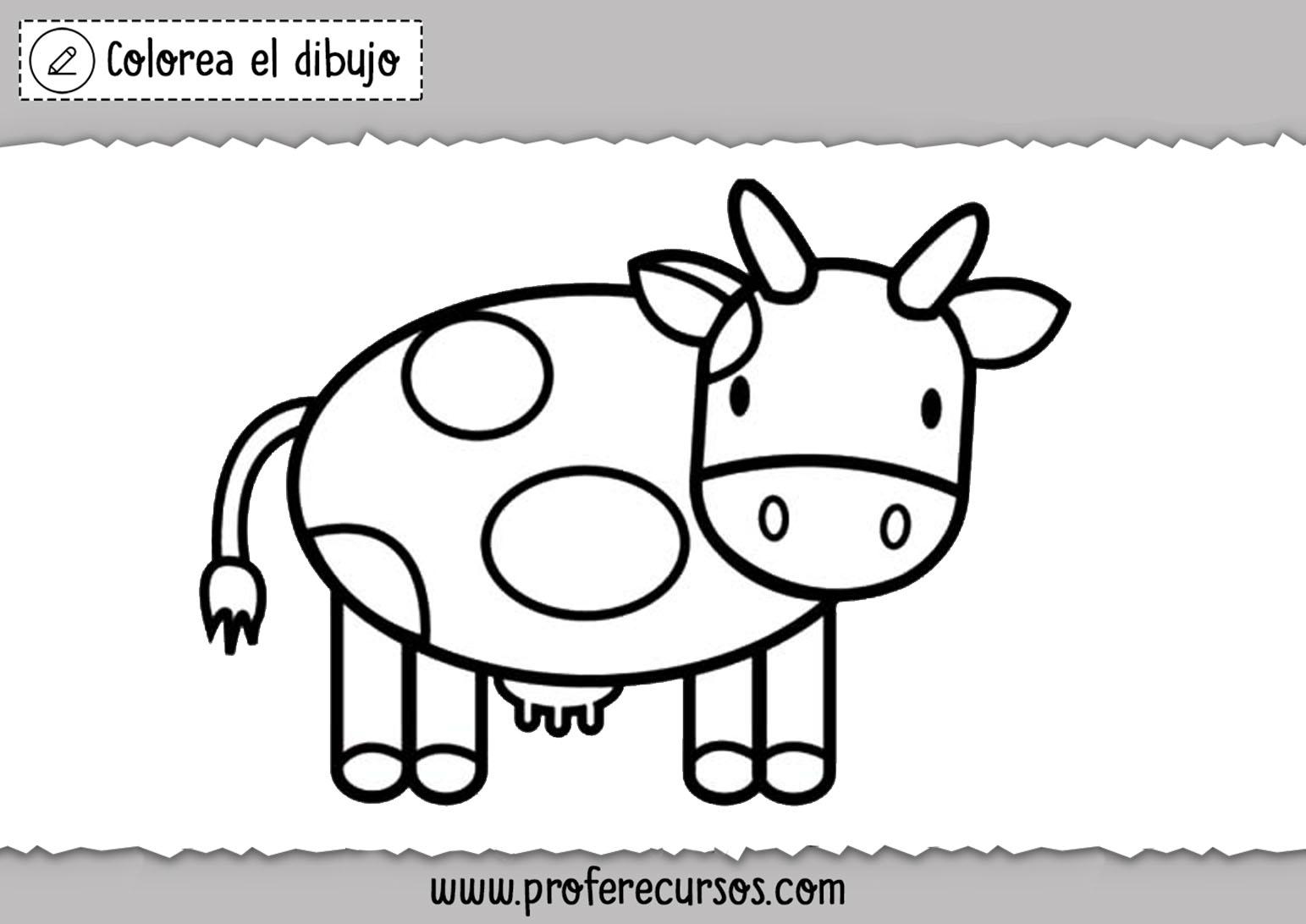 Dibujo de vaca facil
