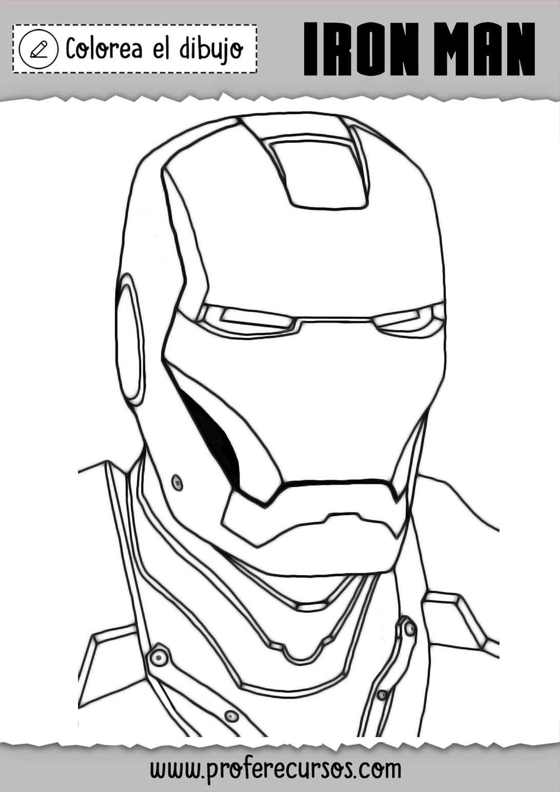 Dibujos Iron Man Para Pintar