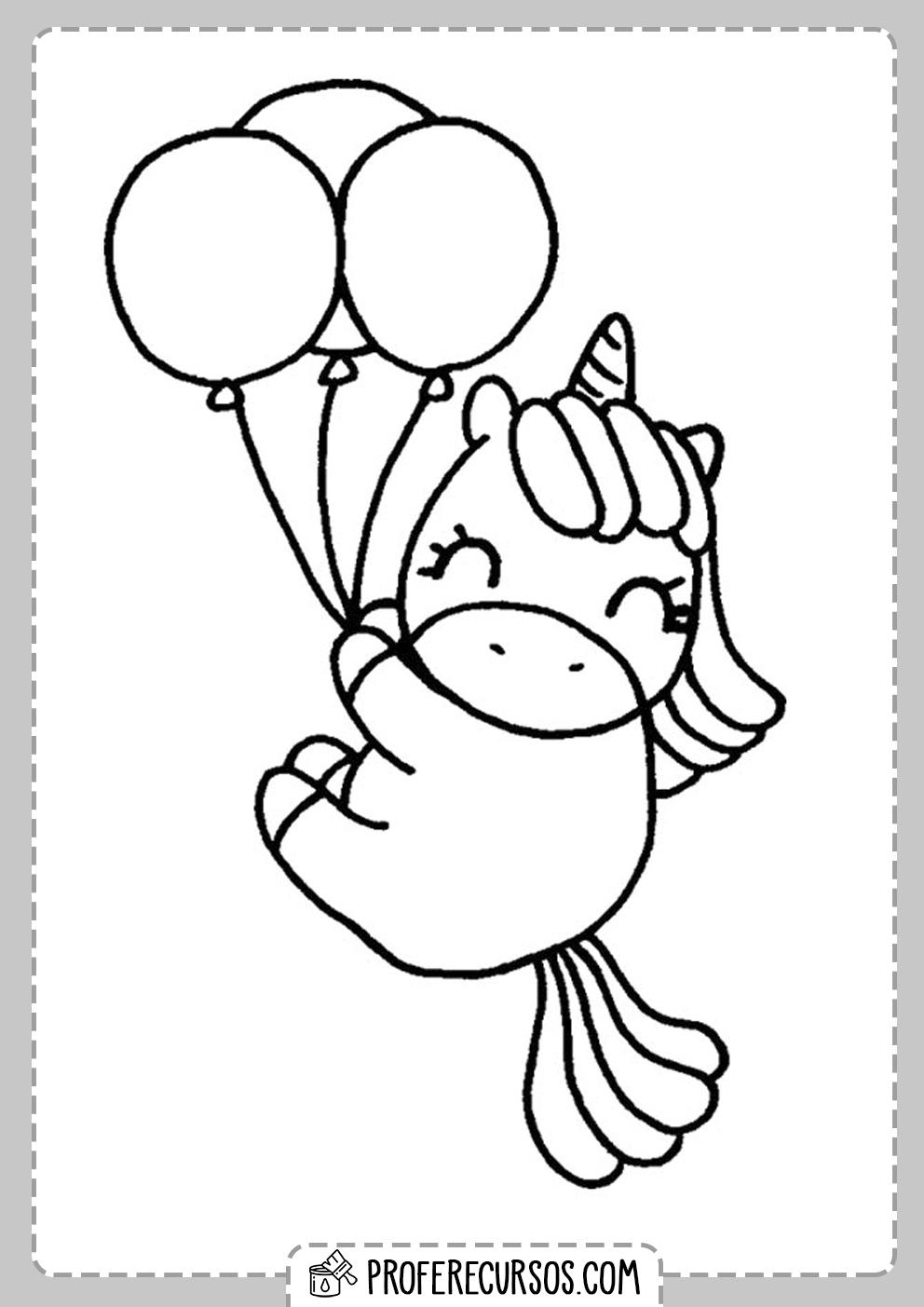 Dibujos Kawaii Colorear Unicornios