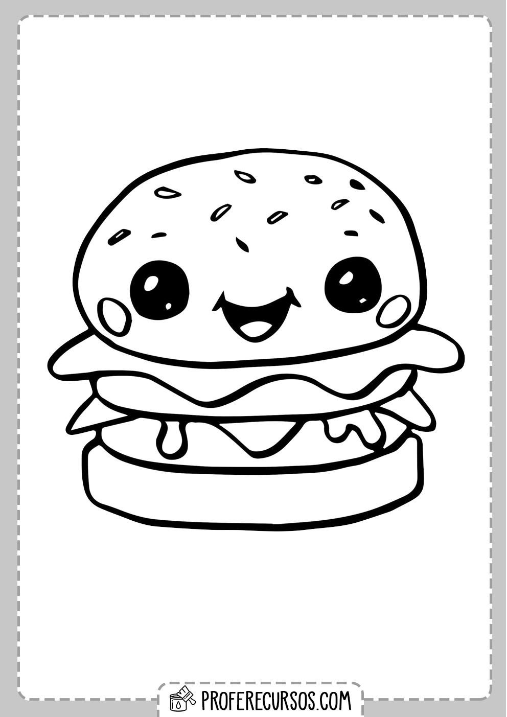 Dibujos Kawaii Hamburguesa