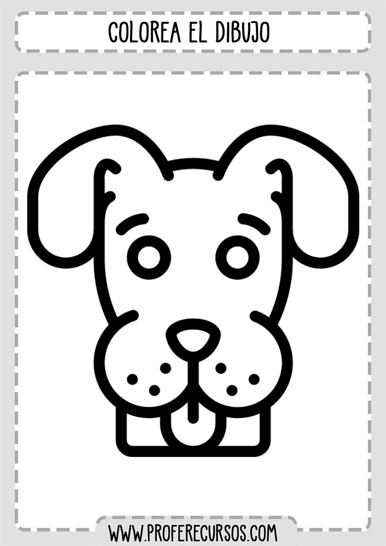 Dibujos Para Colorear faciles perro
