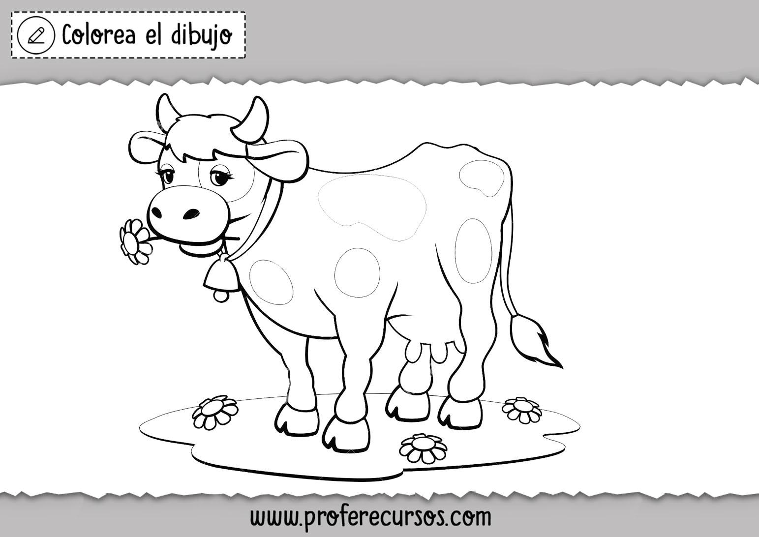 Dibujos vacas colorear
