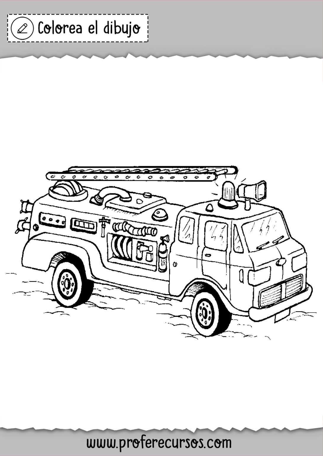 Dibujos de Camion de Bomberos para colorear