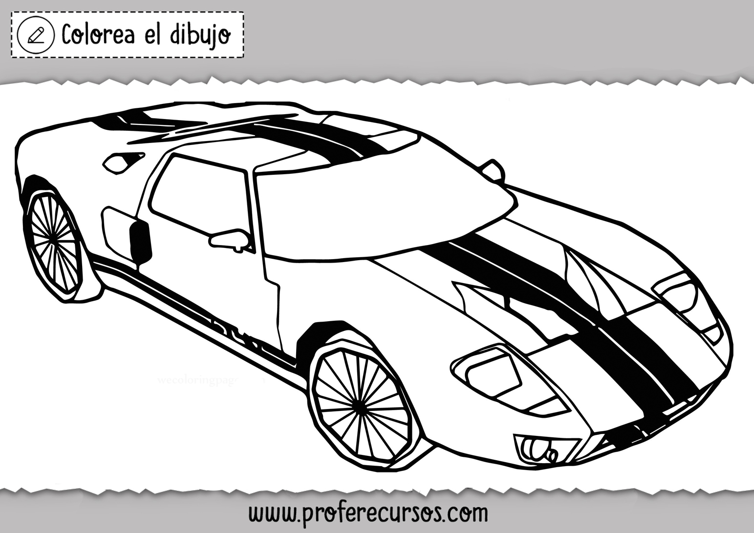 Dibujos de Carros de carreras para colorear