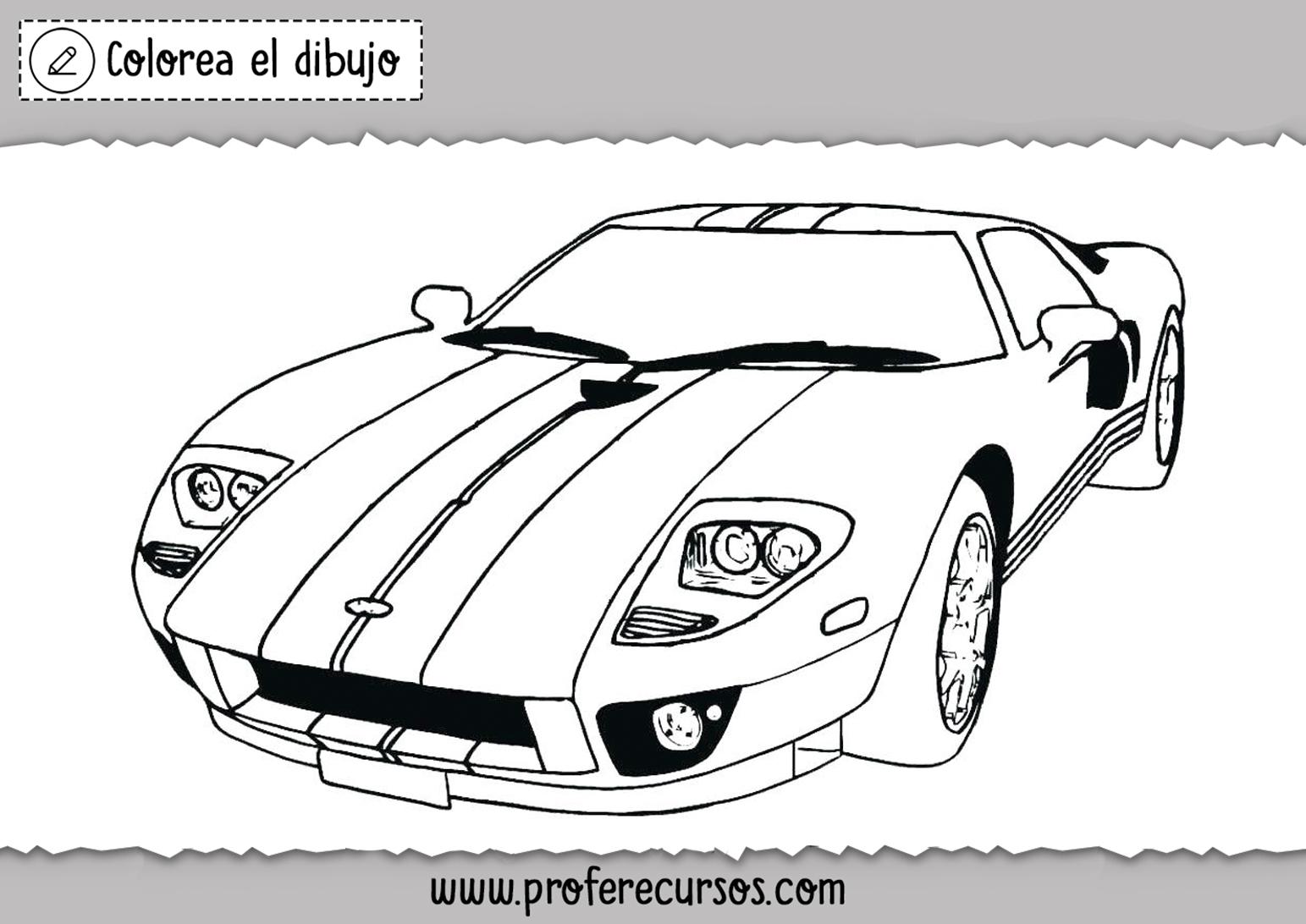 Dibujos de Carros de carreras