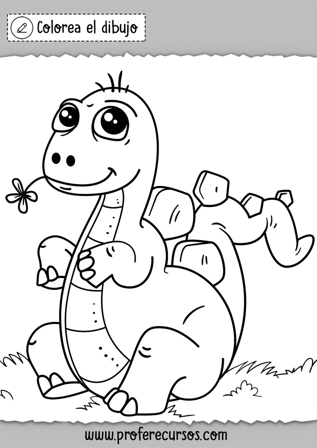 Dibujos de Dinosaurios para Niños para Colorear
