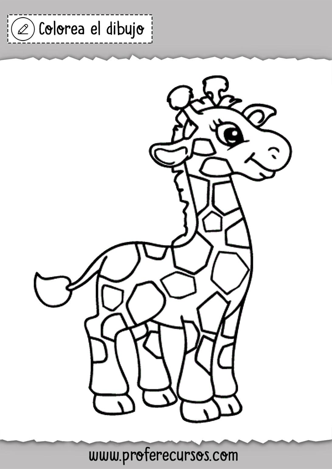 Dibujos de jirafas para pintar