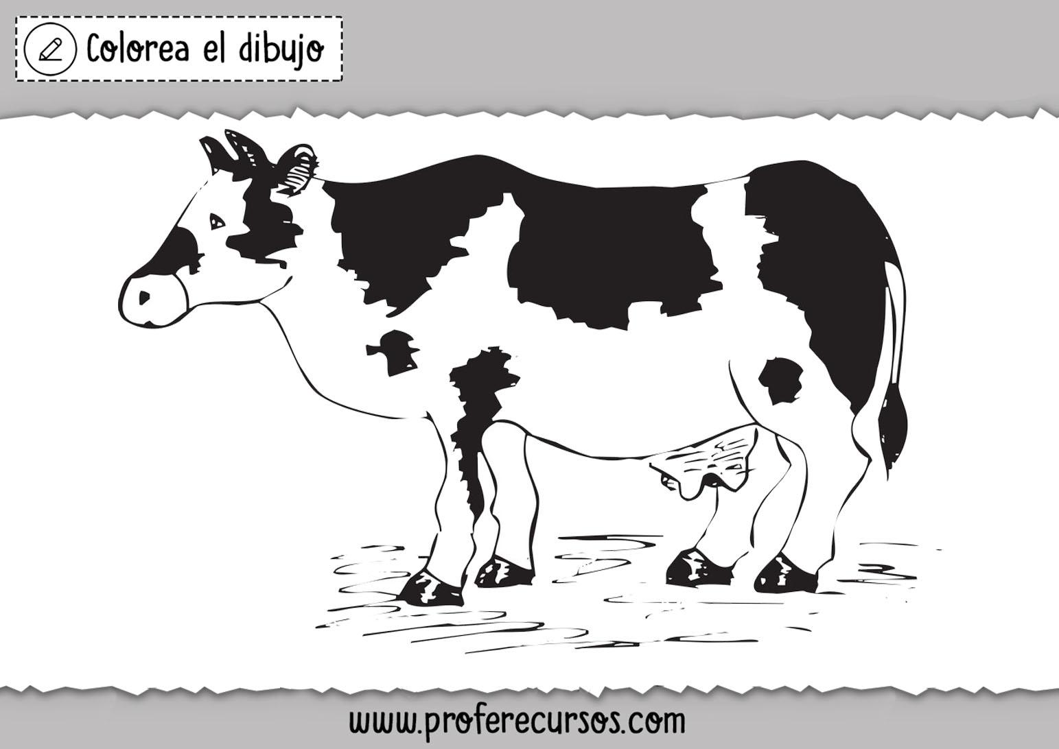Dibujos de vacas para niños