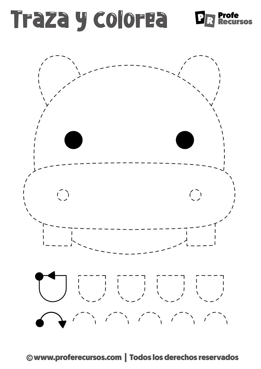 Dibujos punteados para niños
