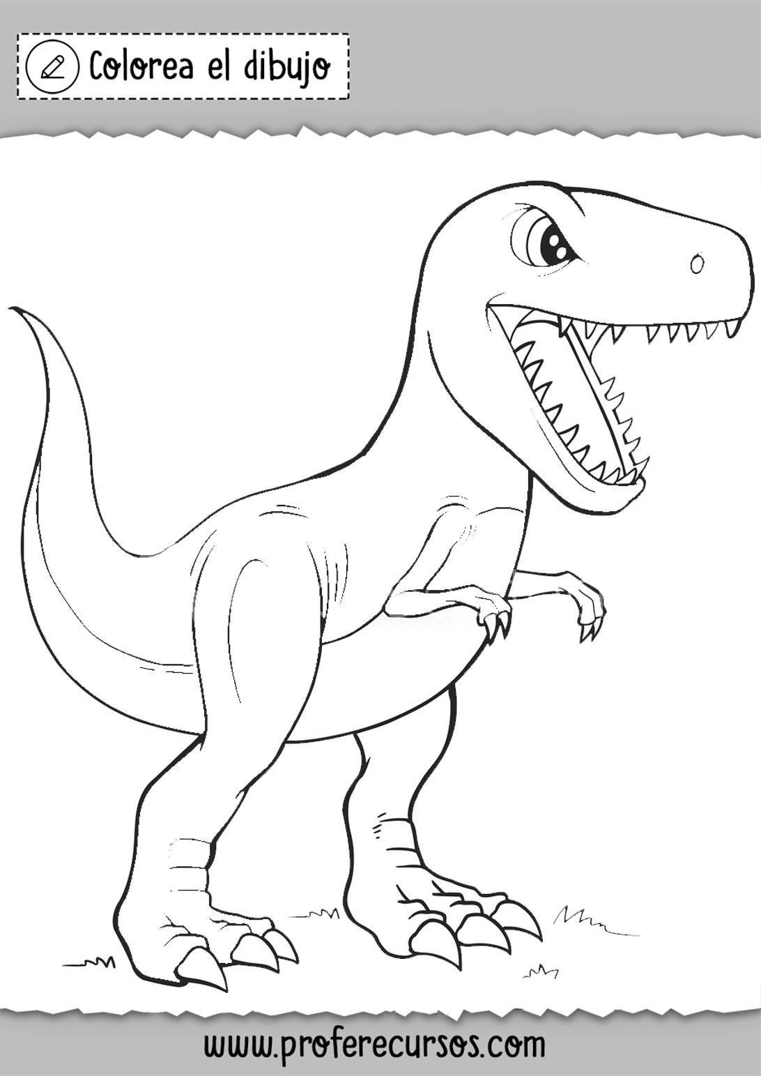 Dinosaurios Para Ninos Para Colorear Profe Recursos Entonces, comenzaremos ya mismo describiendo estas imágenes de dinosaurios para colorear. dinosaurios para ninos para colorear
