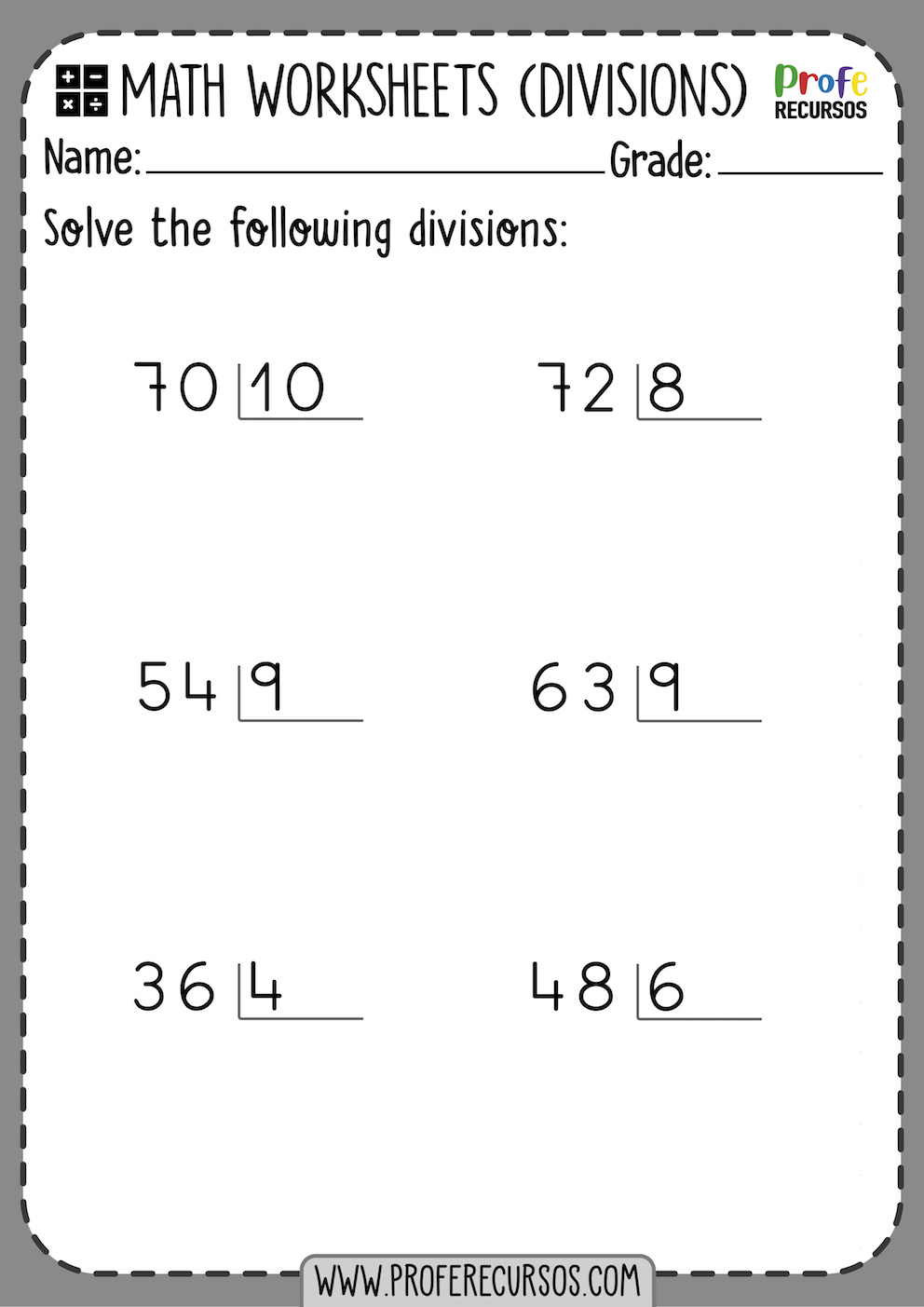 - 2-Digit By 1-Digit Division Worksheets