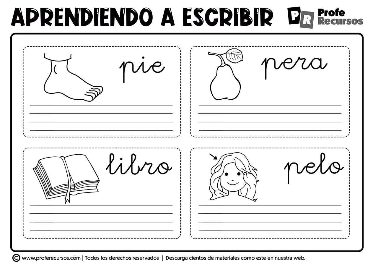 Ejercicios para aprender a escribir