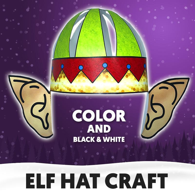 Elf hat craft for kids
