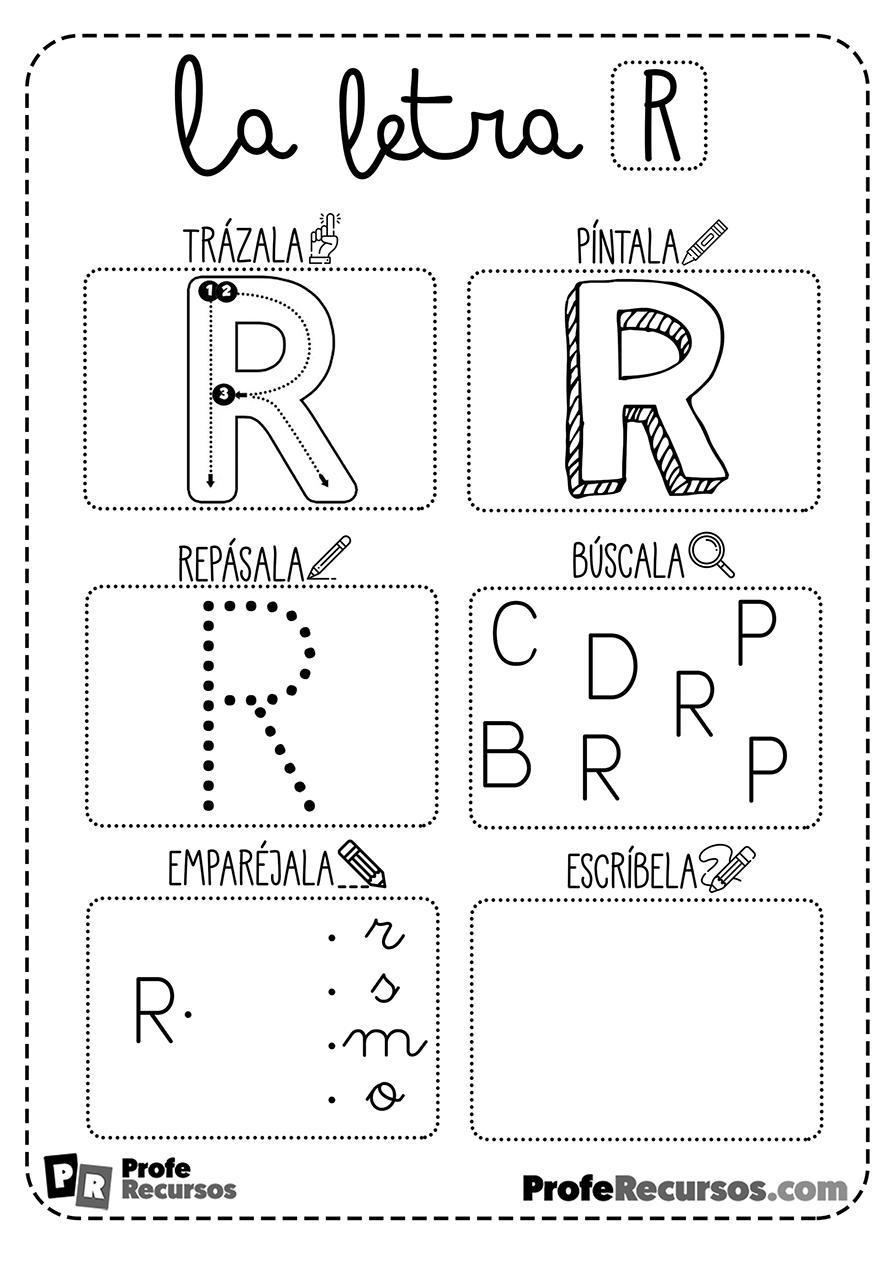 Ficha letra r