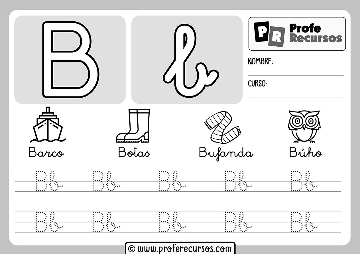 Ficha aprender letra b