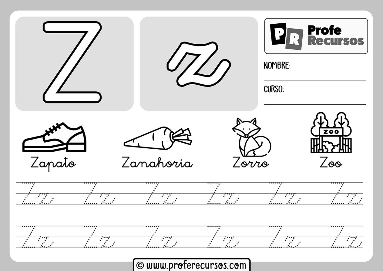 Ficha aprender letra z