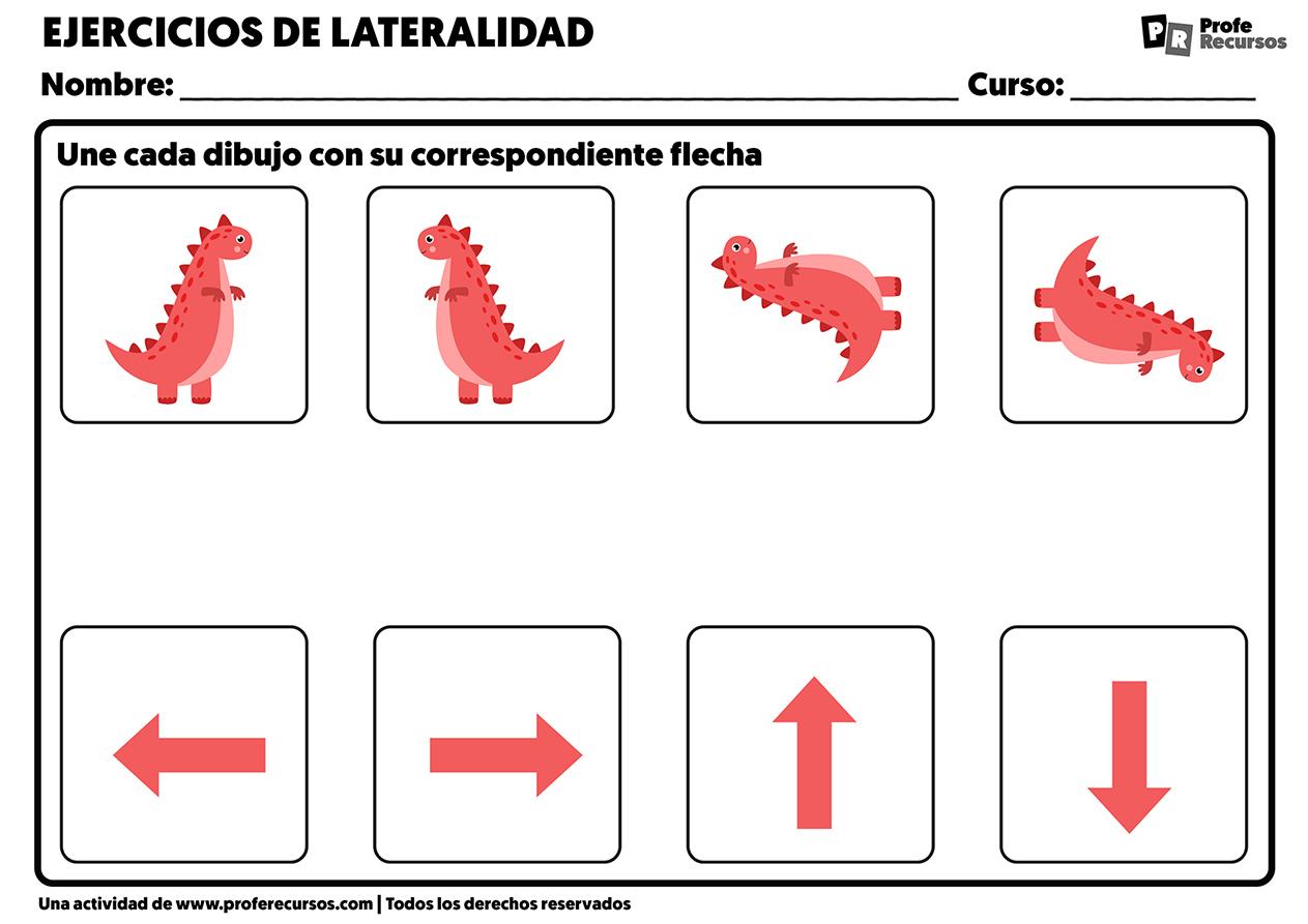 Fichas lateralidad para imprimir